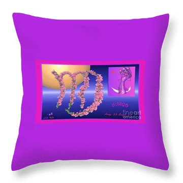 Throw Pillow featuring the digital art Virgo by The Art of Alice Terrill