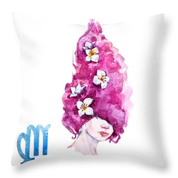 Virgo Throw Pillow