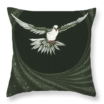 Viriditas-holy Spirit Detail Throw Pillow
