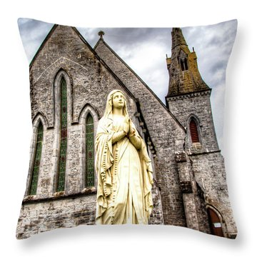 Virign Mary Throw Pillow