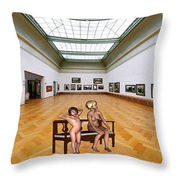 Virtual Exhibition - 32 Throw Pillow by Pemaro