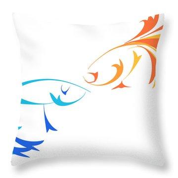 Virtual Fight Throw Pillow