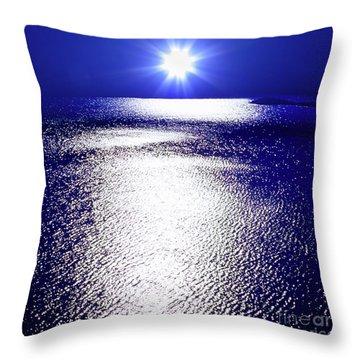 Virtual Sea Throw Pillow