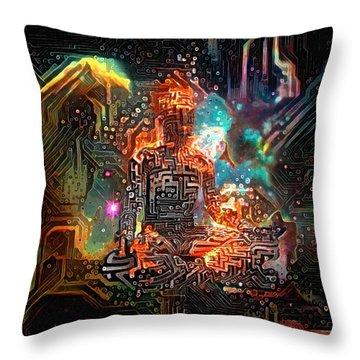 Virtual Zen Throw Pillow
