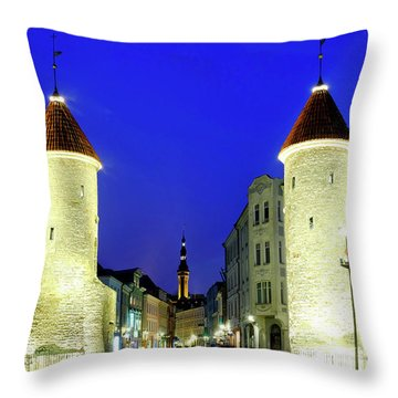 Throw Pillow featuring the photograph Viru Gate by Fabrizio Troiani