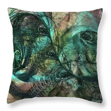 Virulent Germination Throw Pillow
