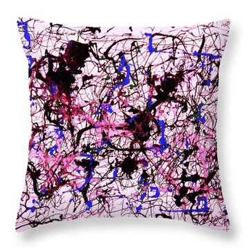 Throw Pillow featuring the painting Visible String Theory by Roberto Prusso