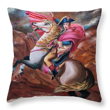 Throw Pillow featuring the painting Vision by Itzhak Richter