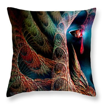 Vision Of An Artist Throw Pillow by Carol Cavalaris