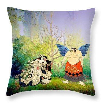 Vision Of Angel Throw Pillow