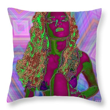 Vision Of Color Throw Pillow by Tbone Oliver