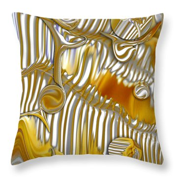 Throw Pillow featuring the digital art Vision Of Commercial Meditation by Carmen Fine Art