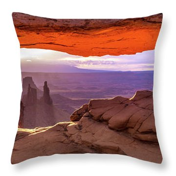 Vision Of Time Throw Pillow
