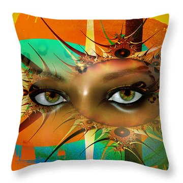 Throw Pillow featuring the digital art Vision by Shadowlea Is