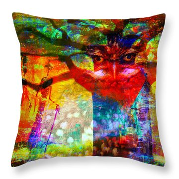 Vision The Tree Of Life Throw Pillow by Fania Simon