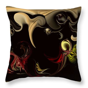 Throw Pillow featuring the digital art Vision With Purity by Carmen Fine Art