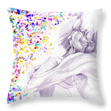 Visionary Throw Pillow by Denise Fulmer