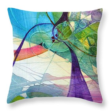 Visions In Motion Throw Pillow