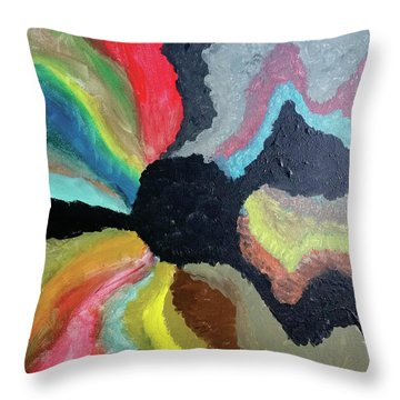Visions Of Color Throw Pillow