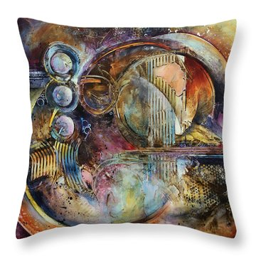 'visions Of Eight' Throw Pillow by Michael Lang