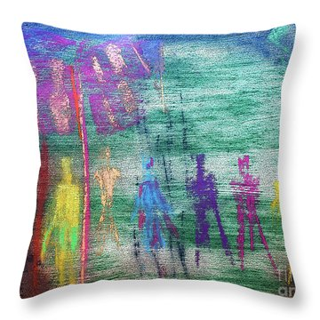 Visions Of Future Beings Throw Pillow