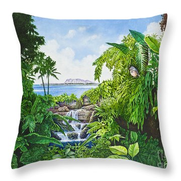 Visions Of Paradise Ix Throw Pillow