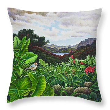 Visions Of Paradise Viii Throw Pillow