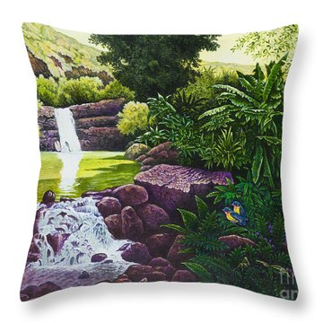 Visions Of Paradise X Throw Pillow