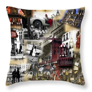 Throw Pillow featuring the photograph Visions Of Paris by John Rizzuto