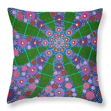Visions Of The Amethyst Beyond  Throw Pillow