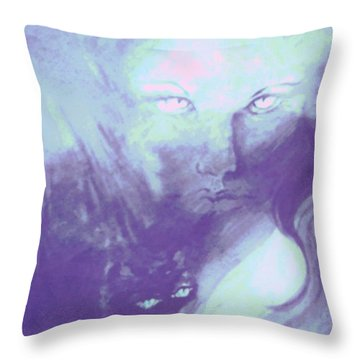 Visions Of The Night Throw Pillow