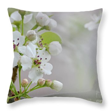 Visions Of White Throw Pillow