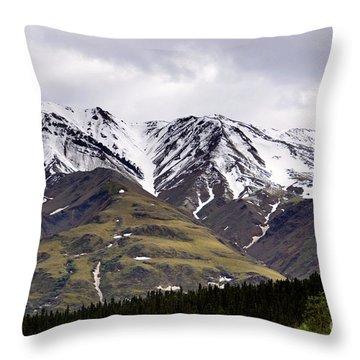 Visit Alaska Throw Pillow