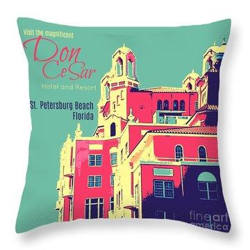 Visit The Don Cesar Throw Pillow