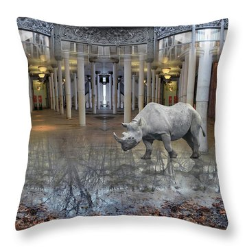 Visiting Throw Pillow