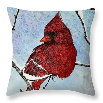 Throw Pillow featuring the painting Visiting Spirit by Suzette Kallen