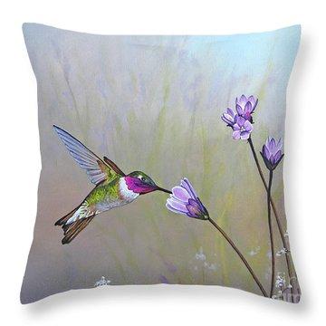 Visiting The Purple Garden Throw Pillow
