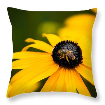 Visitor In The Garden Throw Pillow by Shelby  Young