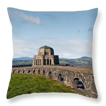Vista House At Crown Point Throw Pillow