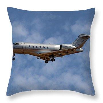 Vista Jet Bombardier Challenger 300 1 Throw Pillow