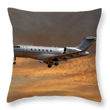 Vista Jet Bombardier Challenger 300 3 Throw Pillow