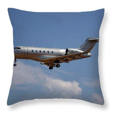 Vista Jet Bombardier Challenger 300 4 Throw Pillow