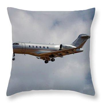 Vista Jet Bombardier Challenger 300 5 Throw Pillow