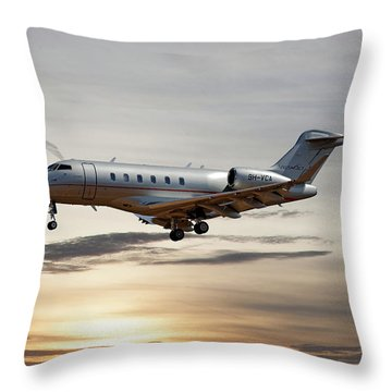 Vista Jet Bombardier Challenger 300 Throw Pillow