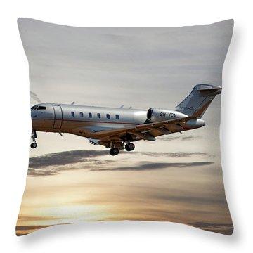 Vista Jet Bombardier Challenger 300 Throw Pillow