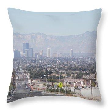 Vista Vegas Throw Pillow