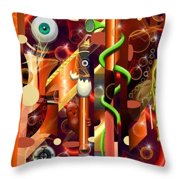 Visual Jazz Throw Pillow