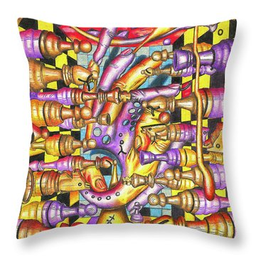 Visual Obstruction Of Probability Throw Pillow