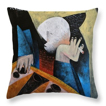 Vitae The Tawla Player  Throw Pillow