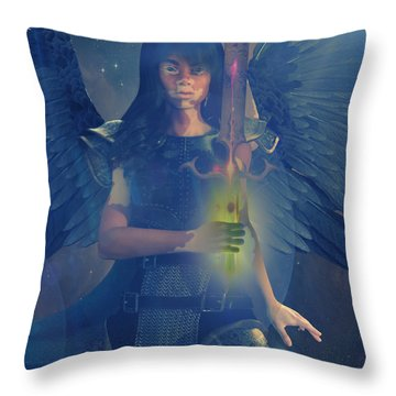 Vitiligo Angel Throw Pillow